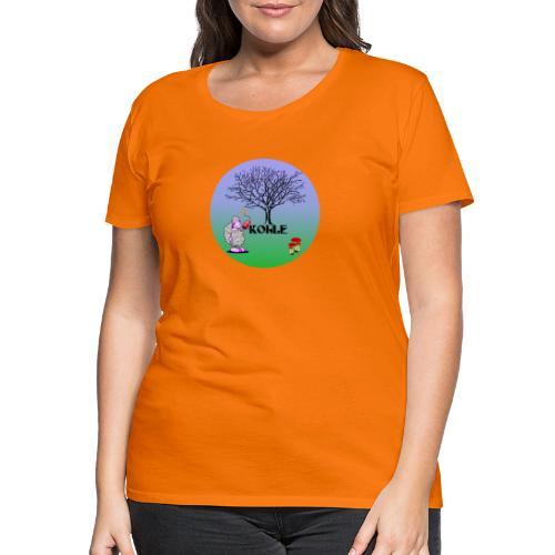 Schaf Kohle - Frauen Premium T-Shirt