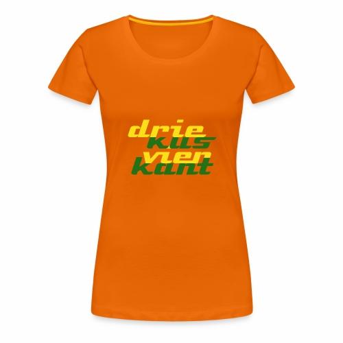 Driekus Vierkant - Vrouwen Premium T-shirt