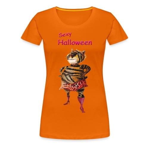 Halloween | sexy Tiger - Frauen Premium T-Shirt