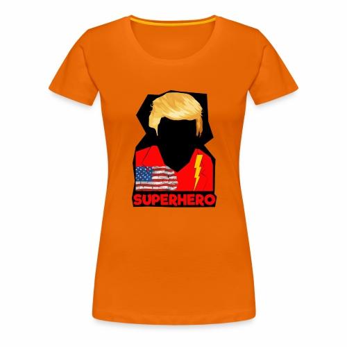 Super Donald / Orange Trump Tear-strappo - Maglietta Premium da donna