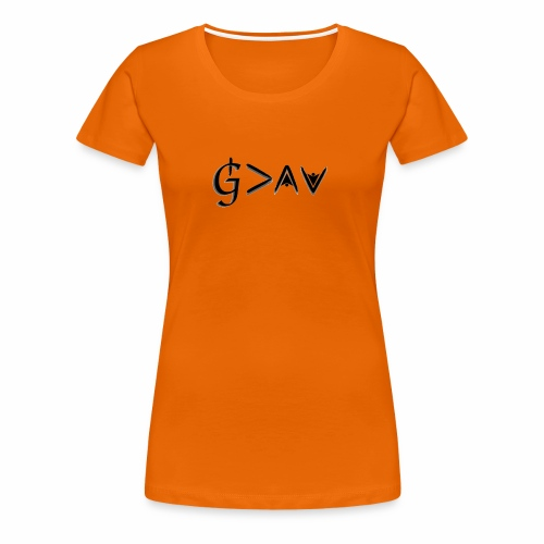 God is greater - black - Women's Premium T-Shirt
