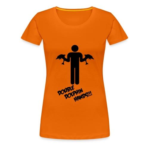 Double Dolphin 2 - Women's Premium T-Shirt