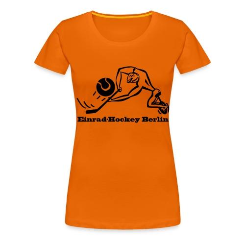 Einradhockey Backhand - Frauen Premium T-Shirt
