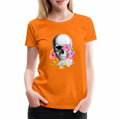 teschio flower - Maglietta Premium da donna