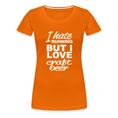 I Love craft beer - Vrouwen Premium T-shirt