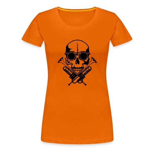 tete de mort skull crane trompette musiq - T-shirt Premium Femme