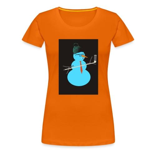 Hockey snowman - Naisten premium t-paita