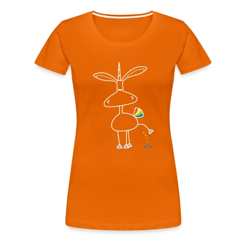 Dru - bunt pinkeln - Frauen Premium T-Shirt