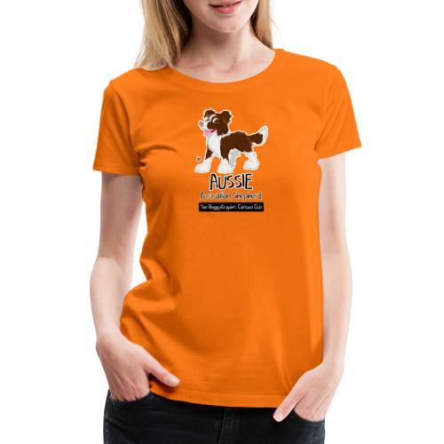 Aussie CartoonClub - Brown - Women's Premium T-Shirt