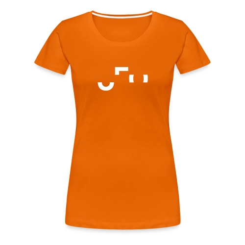 Orange Shirt - Large Center Logo Front & Back - Frauen Premium T-Shirt