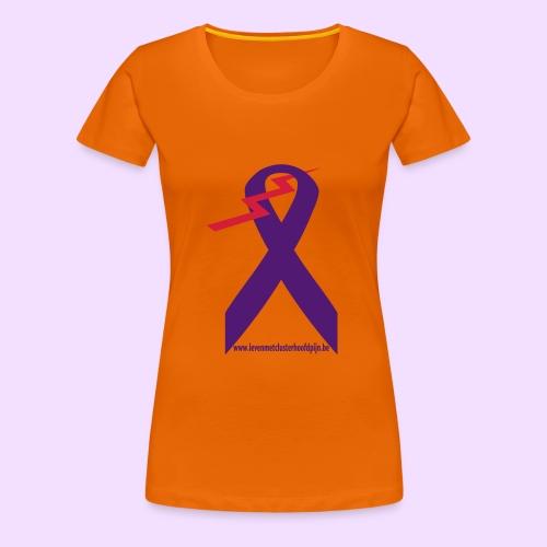 Logo clusterhoofdpijn - Vrouwen Premium T-shirt