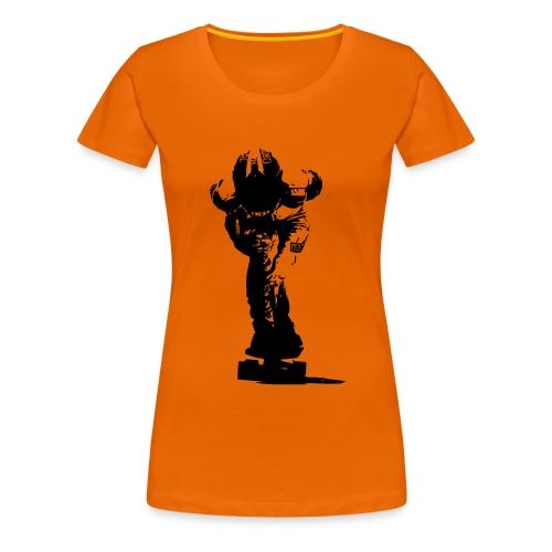 Downhill Longboarder in Action - Frauen Premium T-Shirt