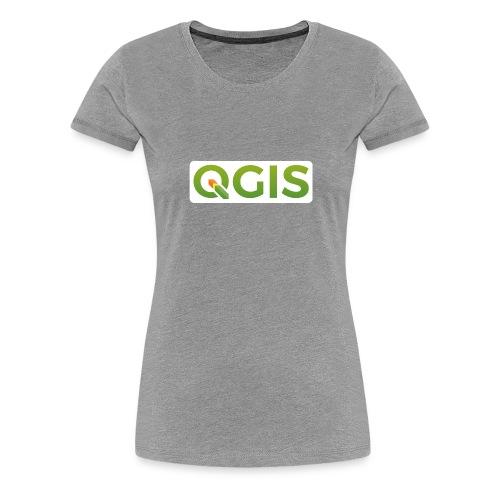 QGIS text white bg 600dpi - Women's Premium T-Shirt
