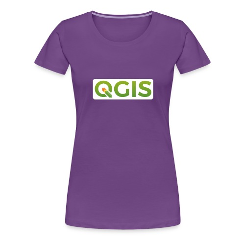 QGIS text white bg 600dpi - Women's Premium T-Shirt