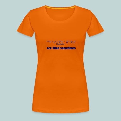 braille__chessplayers_2 - Frauen Premium T-Shirt
