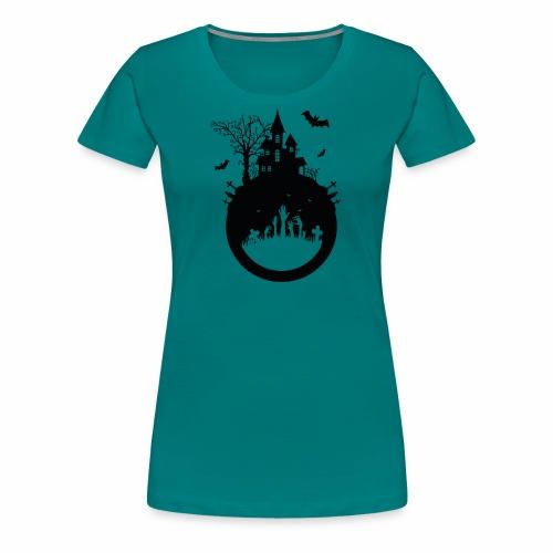 Haunted House - Halloween Design - Frauen Premium T-Shirt