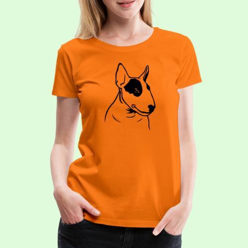 Tête de Bull Terrier - T-shirt Premium Femme