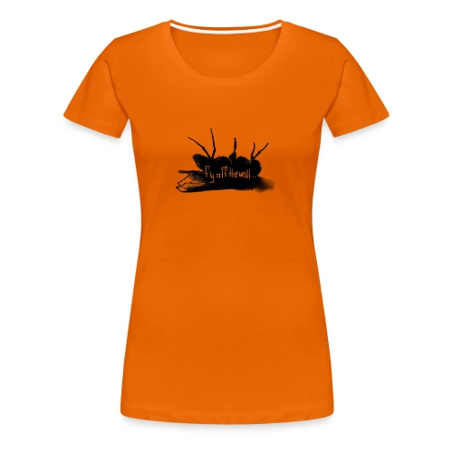 fly off the wall text - Premium-T-shirt dam