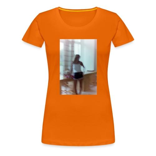 Mädchen in Shorts - blurred vintage photography - Frauen Premium T-Shirt