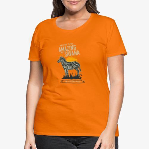 Zèbre - T-shirt Premium Femme