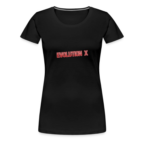 Evolution X Logo Rot - Frauen Premium T-Shirt