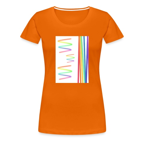 Lineas coloridas - Camiseta premium mujer