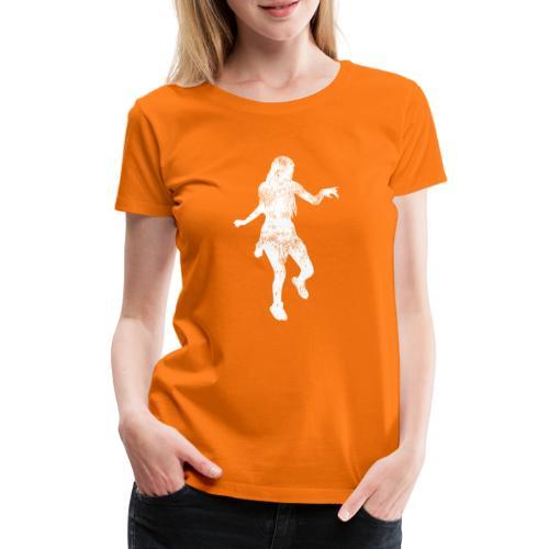 Shuffle Tanz Mädchen tanzt zur Musik - Frauen Premium T-Shirt