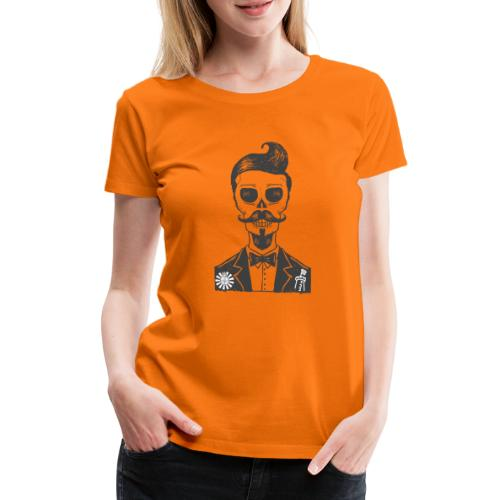 RT Skull Gentleman - Frauen Premium T-Shirt