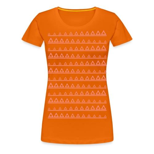 Triangle-Lines Look - Frauen Premium T-Shirt