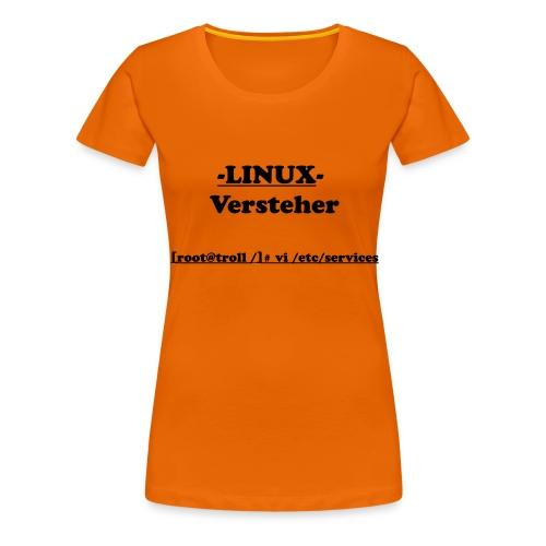 Linux-Versteher: VI - Frauen Premium T-Shirt
