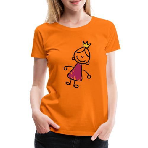 Princess Line Drawing Pixellamb - Frauen Premium T-Shirt