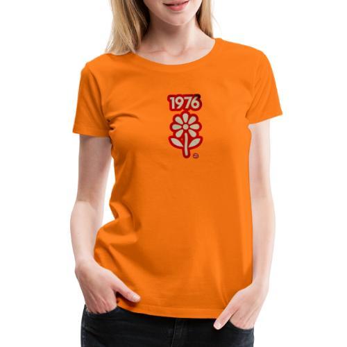 1976 withe flower vtgd - Frauen Premium T-Shirt