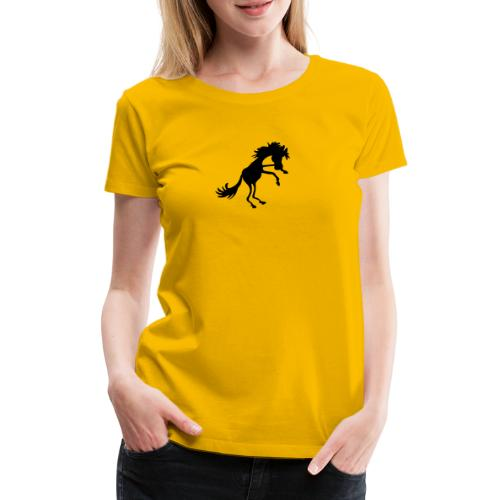 steigendes Pferd - Frauen Premium T-Shirt