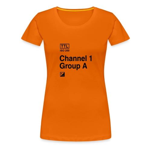Channel 1 Group A - Strobist - Frauen Premium T-Shirt