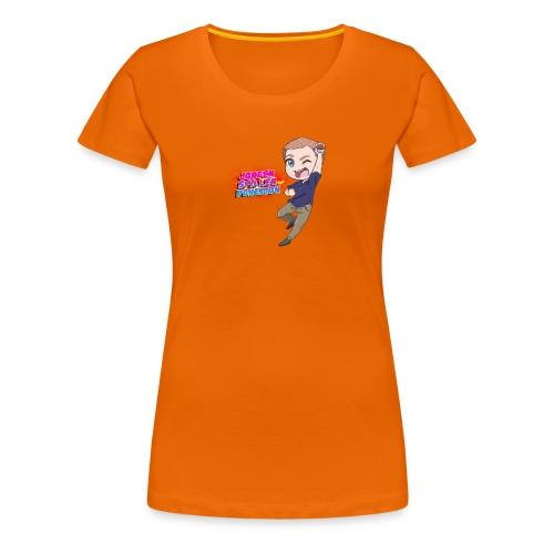 Jørgen spiller lommemonstre - Dame premium T-shirt
