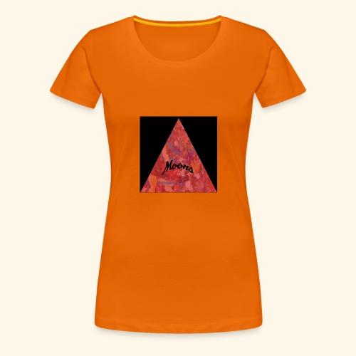 Moons rojo tri - Camiseta premium mujer
