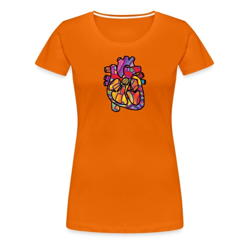 Real Energetic Heart - Women's Premium T-Shirt