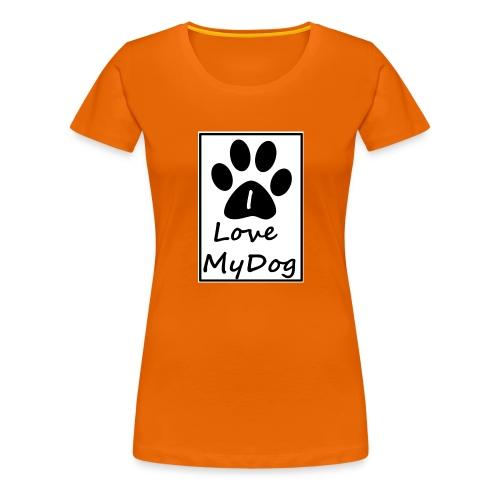 love dog - Camiseta premium mujer