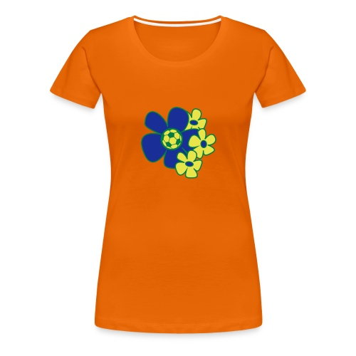 Voetbal Bloemen Rio - Vrouwen Premium T-shirt