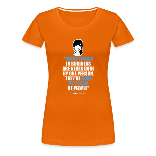 """T-Shirt Steve Jobs - """"Great Things in Business.."""""""