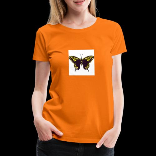 Black & Yellow Butterfly - Women's Premium T-Shirt