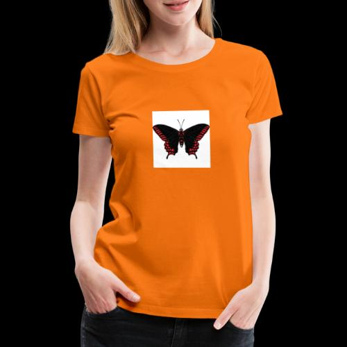 Black & Red Butterfly - Women's Premium T-Shirt
