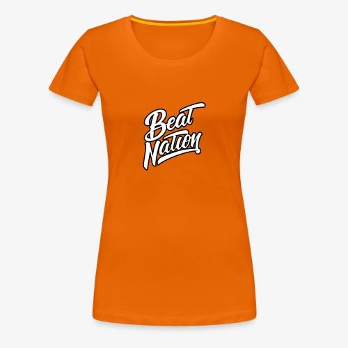 Logo Officiel Beat Nation Blanc - Frauen Premium T-Shirt