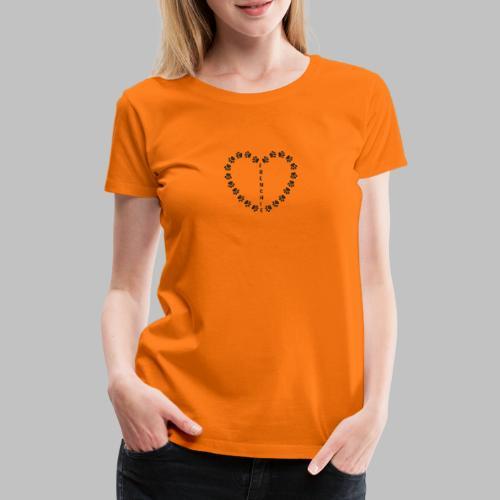 Herz - Pfoten - Frenchie - Frenchbulldog - Frauen Premium T-Shirt