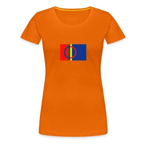 Samiska flaggan - Premium-T-shirt dam