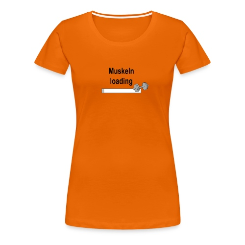 Muskeln loading - Frauen Premium T-Shirt
