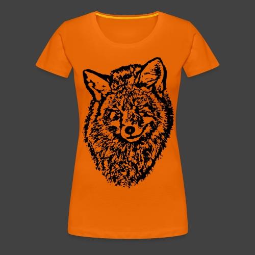 FOX1 - BLACK - Women's Premium T-Shirt