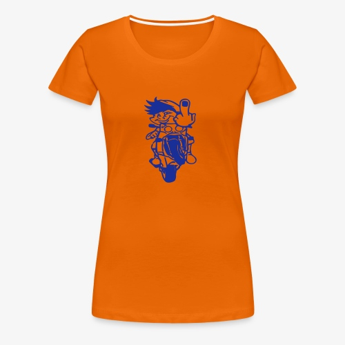 Wheelie Stinkefinger - Frauen Premium T-Shirt