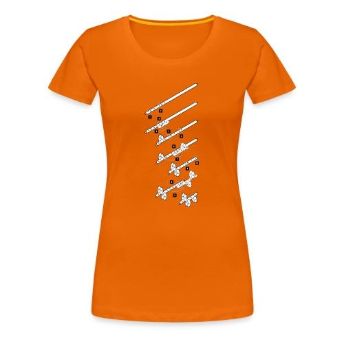 illustratie knopen ballonhond - Vrouwen Premium T-shirt
