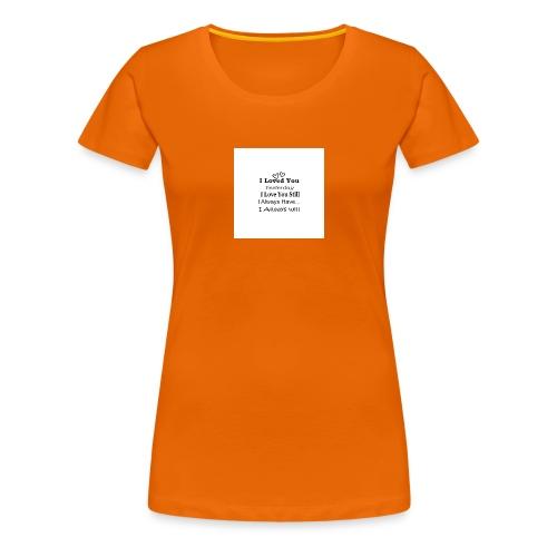 CITAT LOVE - Dame premium T-shirt